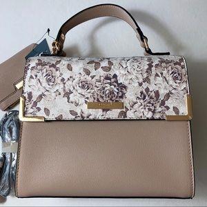 Dune London rosy taupe leather satchel handbag